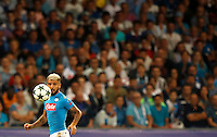 Calcio, Champions League: Napoli vs Benfica. Napoli, stadio San Paolo, 28 settembre 2016.<br /> Napoli's Lorenzo Insigne during the Champions League Group B soccer match between Napoli and Benfica at Naple's San Paolo stadium, 28 September 2016. Napoli won 4-2.<br /> UPDATE IMAGES PRESS/Isabella Bonotto