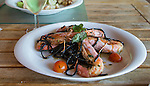 PORTUGAL - Delicious food ,. Pasta with shrimps. Quinta do Conde- Golfbaan Quinta do Peru Golf & Country Club. COPYRIGHT KOEN SUYK