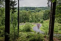 peloton up Le Rosier<br /> <br /> Ster ZLM Tour (2.1)<br /> Stage 4: Hotel Verviers &gt; La Gileppe (Jalhay)(190km)