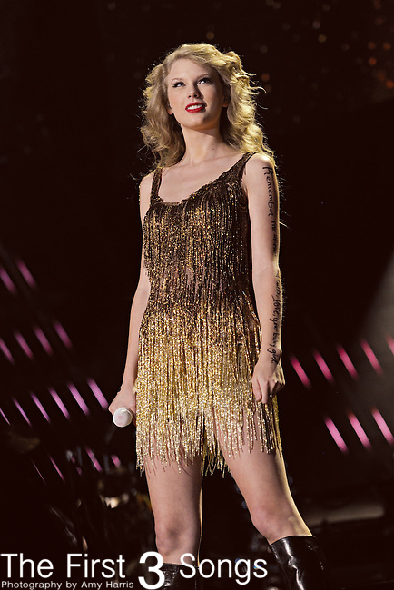 Taylor Swift performs at LP Field during the 2011 CMA Music Festival on June 12, 2011 in Nashville, Tennessee.