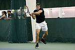 WINSTON-SALEM, NC - JANUARY 23: Wake Forest's Borna Gojo (CRO). The Wake Forest University Demon Deacons hosted Coastal Carolina University on January 23, 2018 at Wake Forest Tennis Complex in Winston-Salem, NC in a Division I College Men's Tennis match. Wake Forest won the match 6-1.