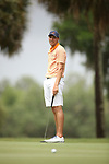 HOWEY IN THE HILLS, FL - MAY 19: Winton Munch of Hope College reacts to his putt during the Division III Men's Golf Championship held at the Mission Inn Resort and Club on May 19, 2017 in Howey In The Hills, Florida. (Photo by Cy Cyr/NCAA Photos via Getty Images)