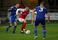Fleetwood Town's Ashley Hunter makes a break <br /> <br /> Photographer Andrew Kearns/CameraSport<br /> <br /> The Carabao Cup First Round - Fleetwood Town v Carlisle United Kingdom - Tuesday 8th August 2017 - Highbury Stadium - Fleetwood<br />  <br /> World Copyright &copy; 2017 CameraSport. All rights reserved. 43 Linden Ave. Countesthorpe. Leicester. England. LE8 5PG - Tel: +44 (0) 116 277 4147 - admin@camerasport.com - www.camerasport.com