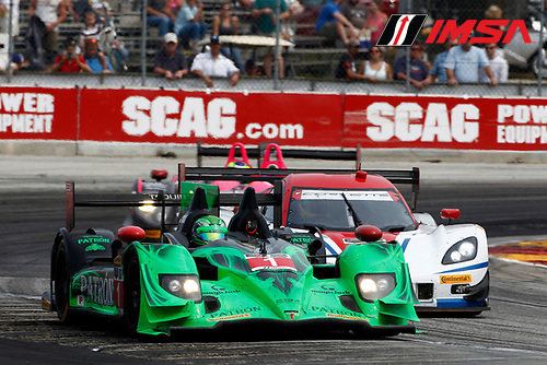 8-10 August 2014, Elkhart Lake, Wisconsin USA<br /> 1, Honda, HPD ARX-03b, P, Scott Sharp, Ryan Dalziel leads 5, Chevrolet, Corvette DP, P, Joao Barbosa, Christian Fittipaldi<br /> &copy;2014, Phillip Abbott<br /> LAT Photo USA for IMSA