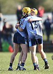 Scariff Community College players celebrate on the final whistle following their All-Ireland Colleges final win over St Fergal's College at Toomevara. Photograph by John Kelly.