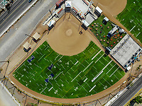 Synthetic grass fields, softball, big league dreams.<br /> campos de pasto sintetico, softboll,  big league dreams. Cenital shot.<br /> Paisaje urbano, paisaje de la ciudad de Hermosillo, Sonora, Mexico.<br /> Urban landscape, landscape of the city of Hermosillo, Sonora, Mexico.<br /> (Photo: Luis Gutierrez /NortePhoto)