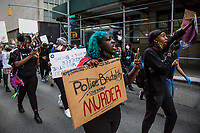 NEW YORK, NEW YORK - MAY 29: Protesters take part during a protest against police in response to the police officer who killed George Floyd in Minneapilis in front of the Manhattan court on May 29, 2020 in New York. Across the country, protests against Floyd's death have sparked movements day and night. (Photo by Pablo Monsalve / VIEWpress via Getty Images)