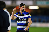 Elliott Stooke of Bath Rugby celebrates with the crowd. Aviva Premiership match, between Bath Rugby and Sale Sharks on October 7, 2016 at the Recreation Ground in Bath, England. Photo by: Patrick Khachfe / Onside Images
