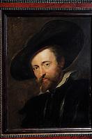 Europe/Belgique/Flandre/Province d'Anvers/Anvers : Maison de Rubens - Détail autoportrait