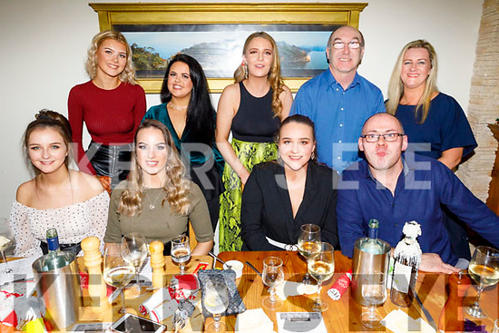 Enjoying the evening in Bella Bia on Saturday night.<br /> Seated l to r: Leona Stack, Lauren Foley, Caoimhe Shanahan and John Hickey.<br /> Standing l to r: Ciara Keane, Katie Falvey, Rebecca Murphy, Brendan Healy and Deidre Leen.