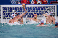 MNE (white cap) vs ITA (blue cap)<br /> Rio de Janeiro  XXXI Olympic Games <br /> Olympic Aquatics Stadium <br /> waterpolo men preliminary round 10/08/2016<br /> Photo Giorgio Scala/Deepbluemedia/Insidefoto