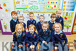 Junior infants pictured at their first day at school in Killury NS, Causeway, last Wednesday August 28th,are Cian&Killian Delaney, Cian&Katya Harty, Ben O'Neill, Shelia Lyons, Joshua Legg, Iarla McKenna, Nessa Kearney and Sive Hanley.