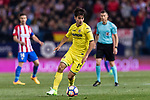 Manuel Trigueros Munoz of Villarreal CF in action during the La Liga match between Atletico de Madrid vs Villarreal CF at the Estadio Vicente Calderon on 25 April 2017 in Madrid, Spain. Photo by Diego Gonzalez Souto / Power Sport Images