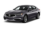 2018 Acura TLX AUTO 4 Door Sedan angular front stock photos of front three quarter view