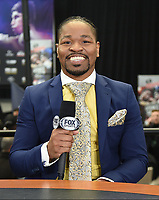 DALLAS, TX - MARCH 15: Fox Sports boxing commentator Shawn Porter at the weigh-in for the Fox Sports PBC Pay-Per_View World Welterweight Championship fight at AT&T Stadium on March 15, 2019 in Dallas, Texas. The fight is on March 16 at 9PM ET/6PM PT. (Photo by Frank Micelotta/Fox Sports/PictureGroup)