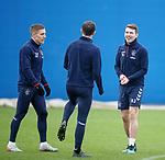 19.12.2019 Rangers training: Ryan Jack and Greg Docherty