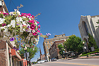 View along Front Street in downtown Marquette Michigan.