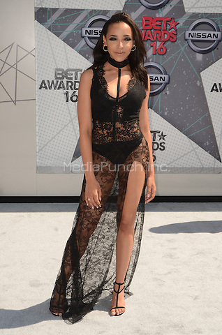 LOS ANGELES, CA - JUNE 26: Tinashe at the 2016 BET Awards at the Microsoft Theater on June 26, 2016 in Los Angeles, California. Credit: David Edwards/MediaPunch