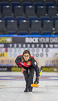 Glasgow. SCOTLAND.  German Skip, Daniella JENTSCH&quot; Round Robin&quot; Game. Le Gruy&egrave;re European Curling Championships. 2016 Venue, Braehead  Scotland<br /> Thursday  24/11/2016<br /> <br /> [Mandatory Credit; Peter Spurrier/Intersport-images]
