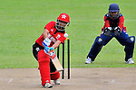 Kary Chan Ka Ying of Hong Kong in action during the ICC 2016 Women's World Cup Asia Qualifier match between  Hong Kong and Nepal on 09 October 2016 at the Tin Kwong Road Cricket Recreation Ground in Hong Kong, China. Photo by Marcio Machado / Power Sport Images