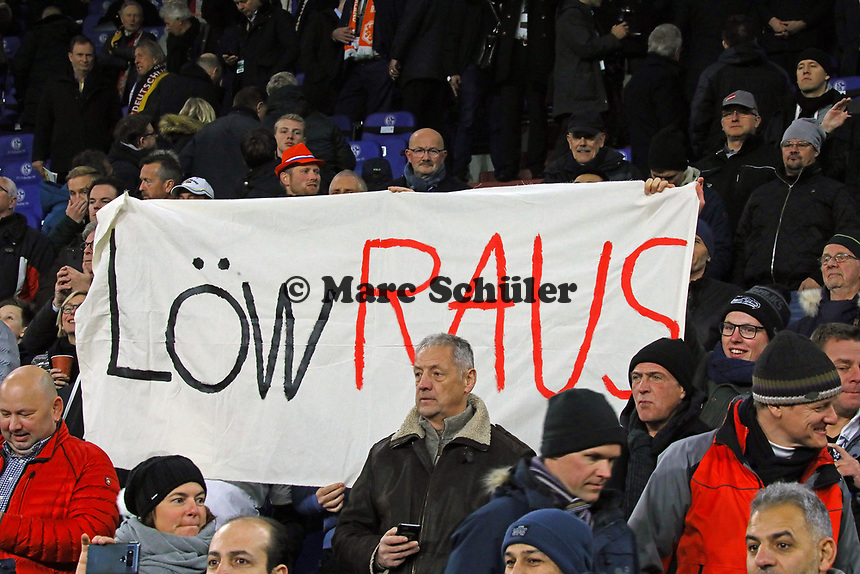 Fans fordern den Rauswurf von Bundestrainer Joachim Loew (Deutschland Germany) - 19.11.2018: Deutschland vs. Niederlande, 6. Spieltag UEFA Nations League Gruppe A, DISCLAIMER: DFB regulations prohibit any use of photographs as image sequences and/or quasi-video.