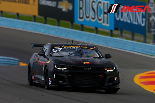 IMSA Continental Tire SportsCar Challenge<br /> Continental Tire 120 at The Glen<br /> Watkins Glen International, Watkins Glen, NY USA<br /> Thursday 29 June 2017<br /> 57, Chevrolet, Chevrolet Camaro GT4.R, GS, Matt Bell, Robin Liddell<br /> World Copyright: Jake Galstad/LAT Images