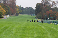 October 07, 2018, Longchamp, FRANCE - John Gosden and team walk the track preparing for the Prix de l'Arc de Triomphe at ParisLongchamp Race Course  [Copyright (c) Sandra Scherning/Eclipse Sportswire)]