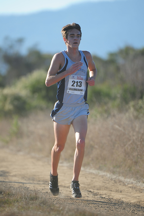 October 29, 2011; Belmont, CA, USA; Saint Mary's Gaels runner Nick Ellingson (213) competes during the WCC Cross Country Championships at Crystal Springs.