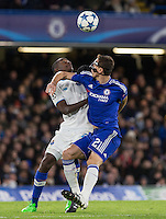 Gianelli Imbula of FC Porto & Nemanja Matic of Chelsea battle for the ball during the UEFA Champions League group G match between Chelsea and FC Porto at Stamford Bridge, London, England on 9 December 2015. Photo by Andy Rowland.