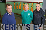 Castlegregory GAA Mentors pictured at their clubhouse on Tuesday Pierse Ferriter (Chairman) Tim Dennehy  (Vice Chairman) and Brendan Hoare (PRO)