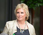 Writer of the Musical Jennifer Saunders leaves Viva Forever photocell at St Pancras Hotel in London today. 26.6.12.....Pic by Gavin Rodgers/Pixel 8000 Ltd