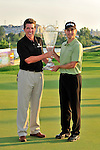 30 August 2009: Robert E. Diamond Jr, President of Barclays PLC, presents the championship trophy to Heath Slocum at The Barclays PGA Playoffs at Liberty National Golf Course in Jersey City, New Jersey.