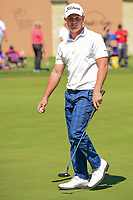 Bud Cauley (USA) after sinking his putt on 16 during round 4 of the Valero Texas Open, AT&amp;T Oaks Course, TPC San Antonio, San Antonio, Texas, USA. 4/23/2017.<br /> Picture: Golffile | Ken Murray<br /> <br /> <br /> All photo usage must carry mandatory copyright credit (&copy; Golffile | Ken Murray)