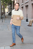 NEW YORK, NY - OCTOBER 17:  Clay Aiken spotted leaving 'The View' in New York, New York on October 17, 2016.  Photo Credit: Rainmaker Photo/MediaPunch