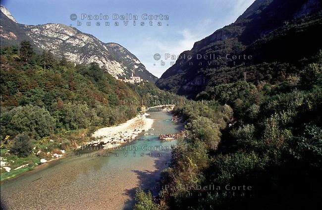 ll fiume Piave verso Ponte delle Alpi