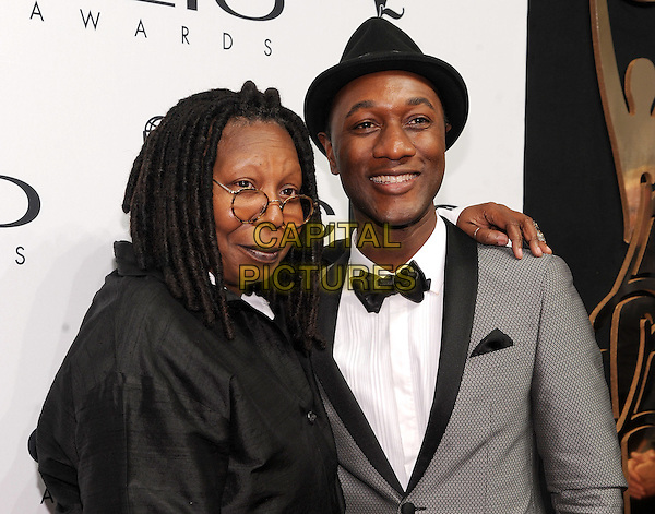 New York, NY- October 1: Whoopi Goldberg and Aloe Blacc attends the 2014 CLIO Awards on October 1, 2014 at Cipriani Wall Street in New York City.   <br /> CAP/RTNSTV<br /> &copy;RTNSTV/MPI/Capital Pictures
