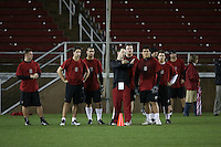 """9 February 2007: Nate Nelson during a """"Friday Night Lights"""" practice at Stanford Stadium in Stanford, CA."""