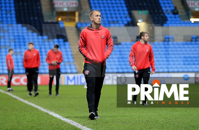 Alex Cairns of Fleetwood Town before the Sky Bet League 1 match between Coventry City and Fleetwood Town at the Ricoh Arena, Coventry, England on 12 March 2019. Photo by Leila Coker / PRiME Media Images.