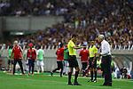 Abdulrahman Al-Jassim (Referee),   Vahid Halilhodzic (JPN),<br /> SEPTEMBER 1, 2016 - Football / Soccer :<br /> Japan's head coach Vahid Halilhodzic argues with referee Abdulrahman Al-Jassim during the FIFA World Cup Russia 2018 Asian Qualifiers Final Round Group B match between Japan 1-2 United Arab Emirates at Saitama Stadium 2002 in Saitama, Japan. (Photo by Kenzaburo Matsuoka/AFLO)