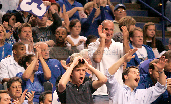 Kentucky fans cheer during the first half of the game against Miami at Rupp Arena Monday night. Photo by Zach Brake | Staff