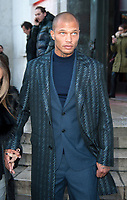 January 19 2018, PARIS FRANCE The Cerruti 1881 Show at the Fashion week<br /> Spring Summer 2018 at Palais Tokyo Paris.<br /> Top Model Jeremy Meeks leaves the Show.