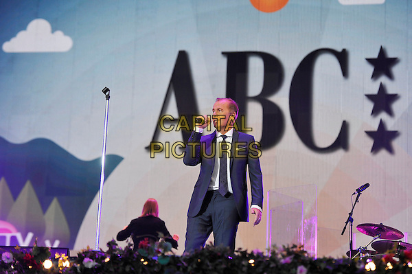 LONDON, ENGLAND - SEPTEMBER 10: Martin Fry of 'ABC' performing at BBC Proms In The Park, Hyde Park on September 10, 2016 in London, England.<br /> CAP/MAR<br /> &copy;MAR/Capital Pictures