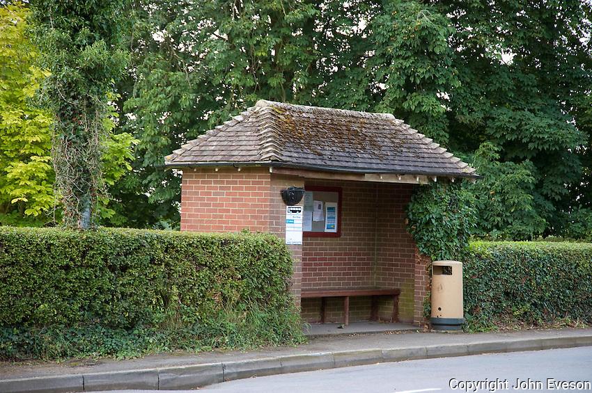Rural bus stop, Hanbury, Burton on Trent, Staffordshire.