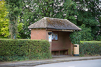 Rural bus stop, Hanbury, Burton on Trent, Staffordshire.