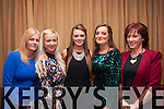 Santa's beauties<br /> --------------------<br /> Staff from Noonan's,Tralee Community Hospital dined in the Manor West Hotel last Saturday night for their annual Christmas party,L-R Sandra McEvoy,Eilish O'Riordan,Kayleagh O'Keeffe,Shelia Brosnan&amp;Noreen Murphy