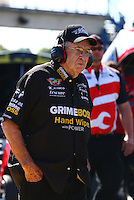 Sep 29, 2013; Madison, IL, USA; NHRA funny car team owner Jim Dunn during the Midwest Nationals at Gateway Motorsports Park. Mandatory Credit: Mark J. Rebilas-