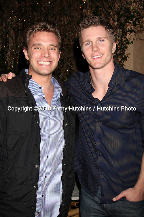 Billy Miller & Thad Luckinbill.at the Eric Braeden's 30th Anniversary on The Young & The Restless Cocktail Reception .Pane e Vino Resturant.Los Angeles, CA.February 3, 2010.©2010 Kathy Hutchins / Hutchins Photo..Publicist & Braeden Approved....