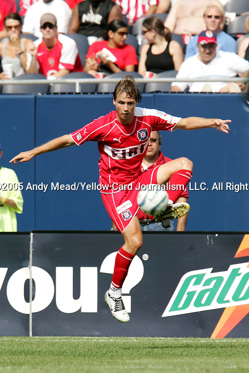 16 July 2005: Justin Mapp. The Chicago Fire and Columbus Crew tied 1-1 at Soldier Field in Chicago, Illinois in a regular season Major League Soccer game.