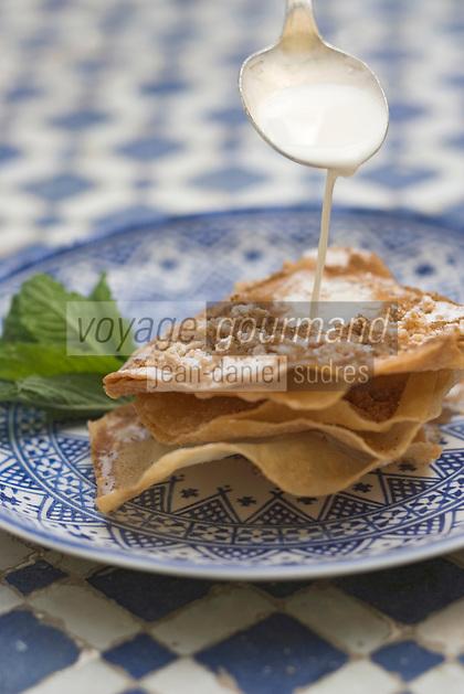 """Afrique/Afrique du Nord/Maroc/Fès: Palais Jamai- Pastilla au lait recette d'Hicham Hassan chef du restaurant """"Al Fassia"""""""