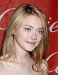 PALM SPRINGS , CA. - January 06: Actress Dakota Fanning arrives at The 20th Anniversary of the Palm Springs International Film Festival Awards Gala at the Palm Springs Convention Center on December 6, 2009 in Palm Springs, California.